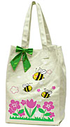 Canvas Market Bag with Bees