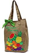 Canvas Market Bag with Fruit - Green Planet